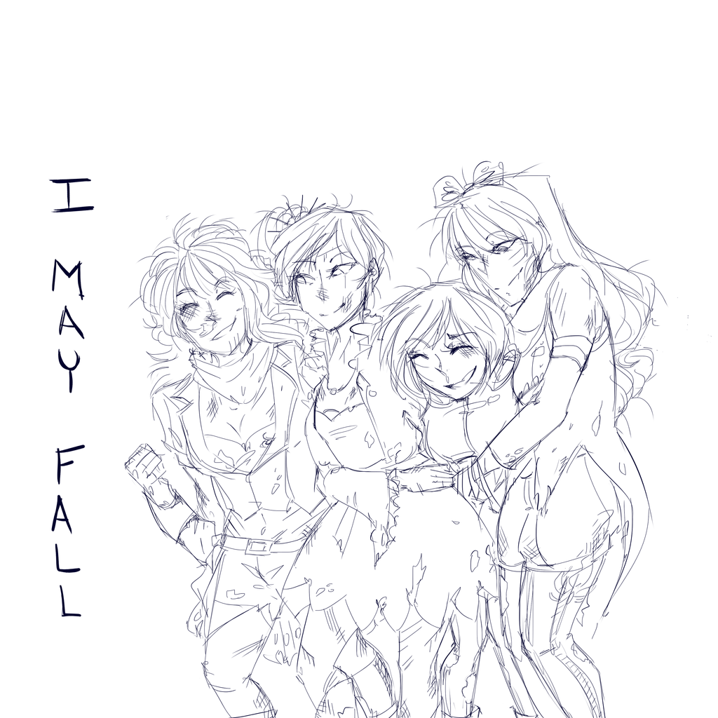 Rwby I May Fall Lineart by Sogequeen2550