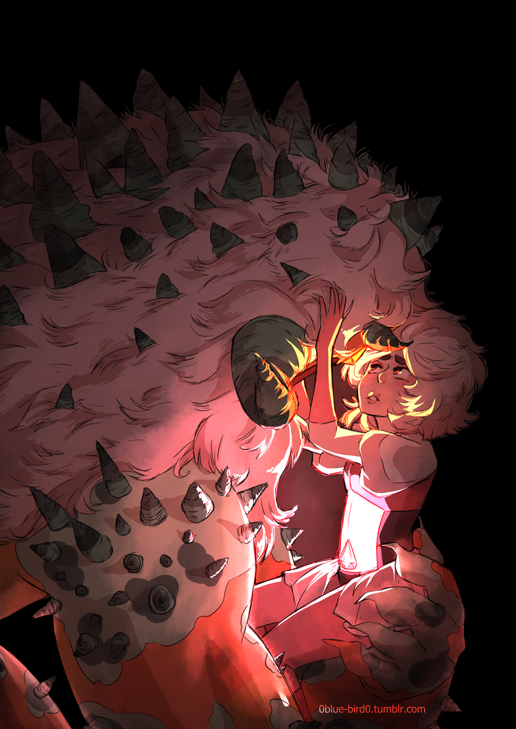 So Im digging pink diamond's design and im hoping that these two will have some sort of canon background together in the future (because i need there to be someone who cares about jasper ok) this i...