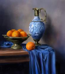 Oranges Still Life by allison888