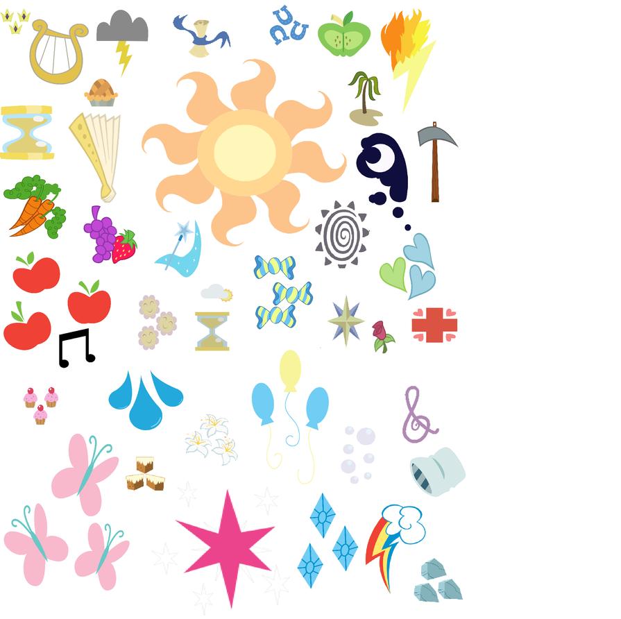MLP-Cutie Mark Collection by rosa-pegasus on DeviantArt |Mlp Random Cutie Marks