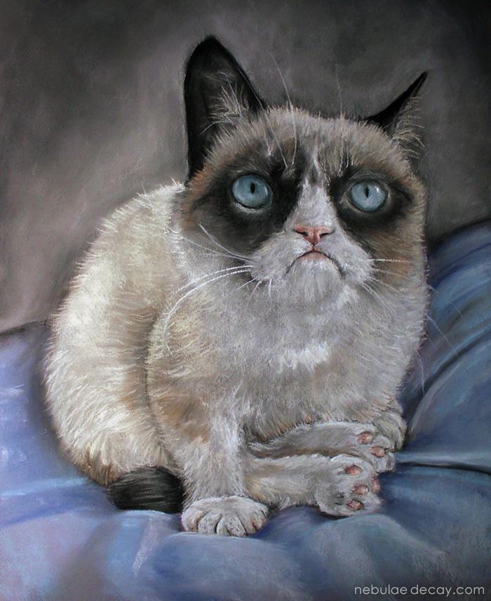 Grumpy Cat by nebulae-decay