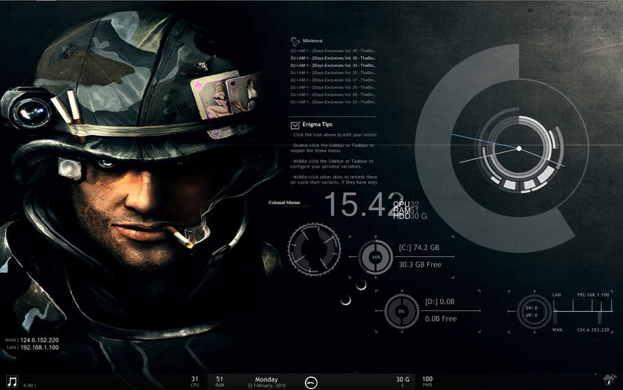 Rainmeter by johnbenitez