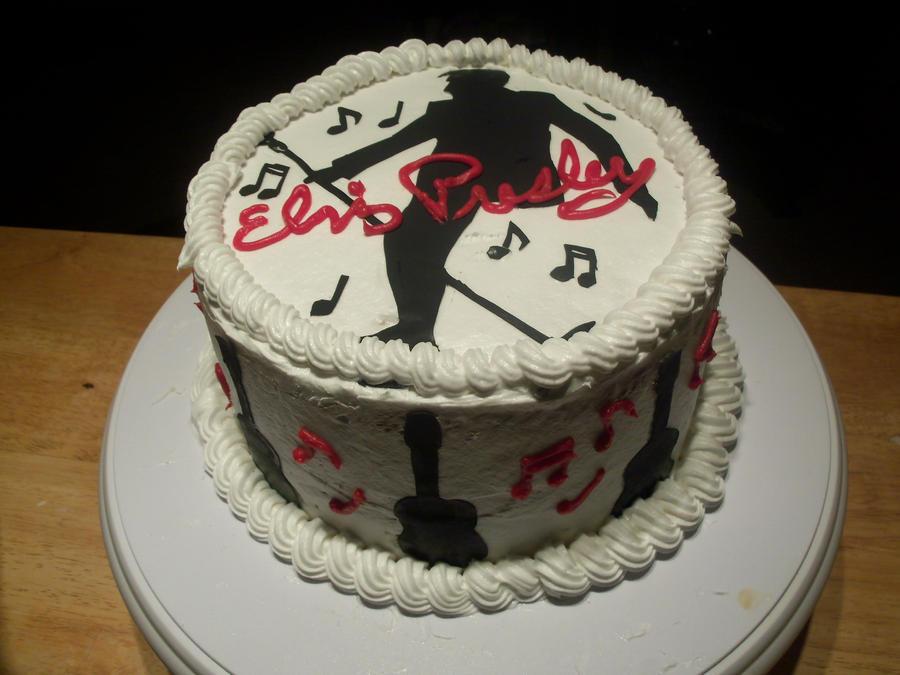 Elvis Presley Cake by Crosseyed-Cupcake
