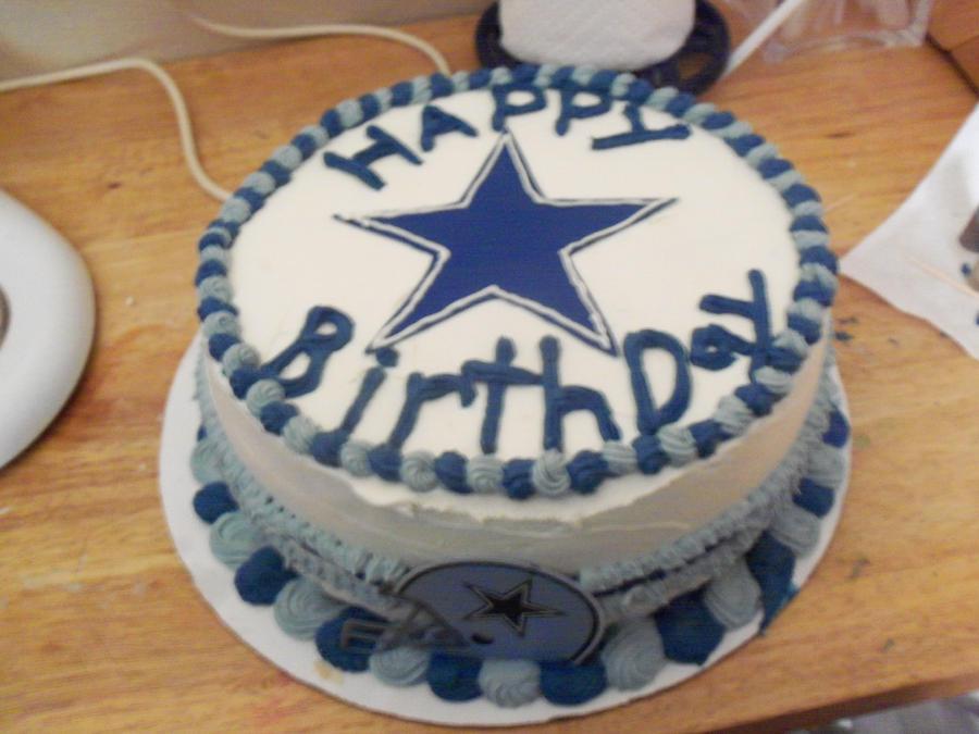 Dallas Cowboy cake by CrosseyedCupcake on DeviantArt