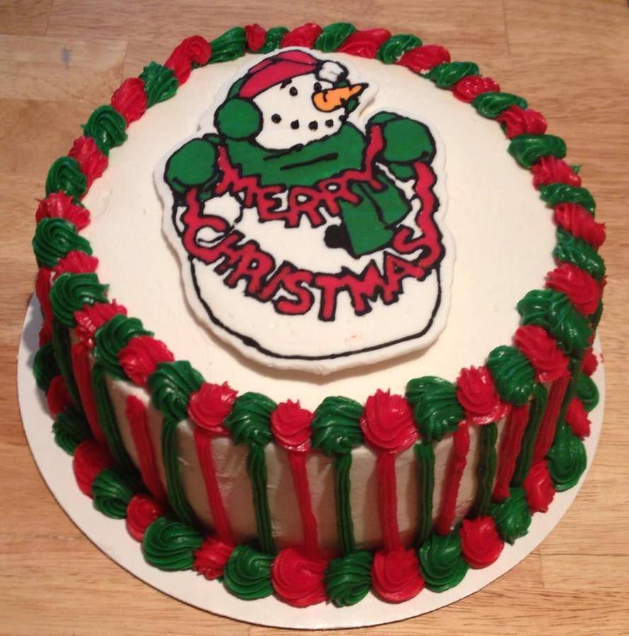 Cute christmas snowman cake ideas and designs