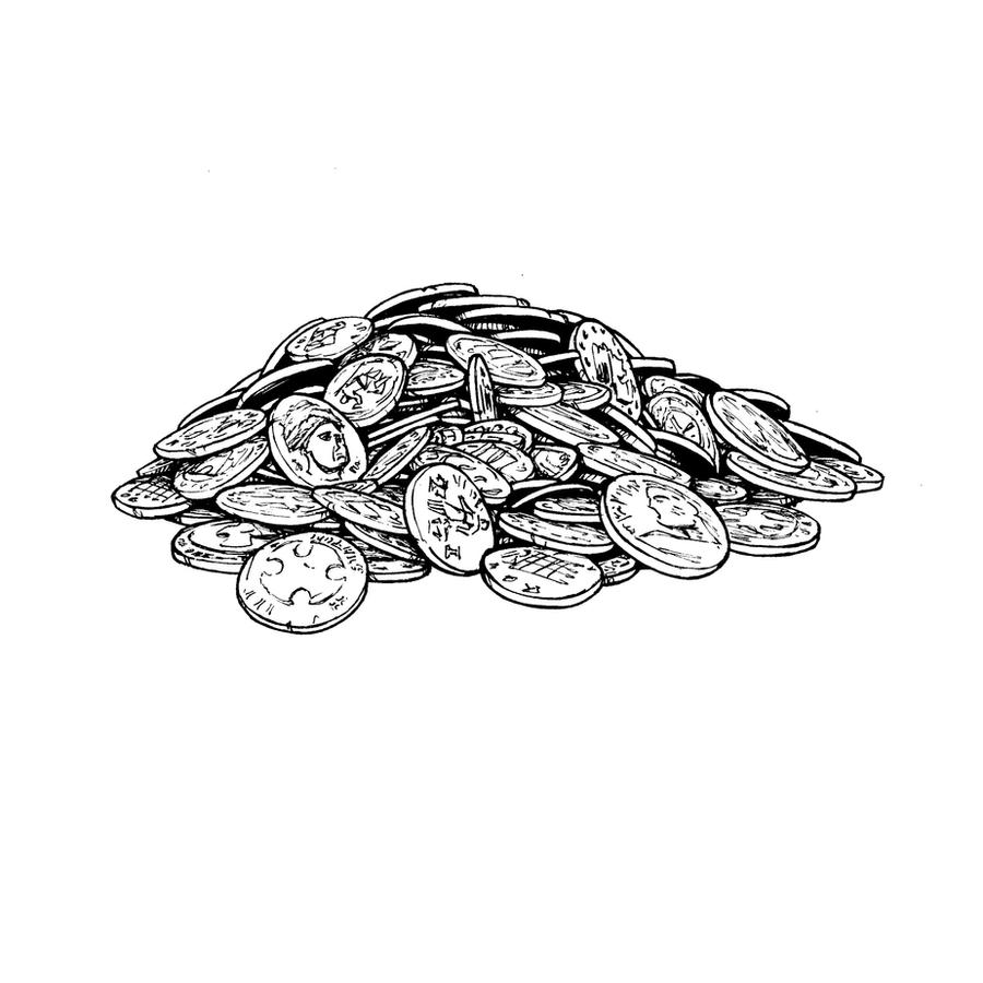 lotfp pile of coins by cronevald on deviantart