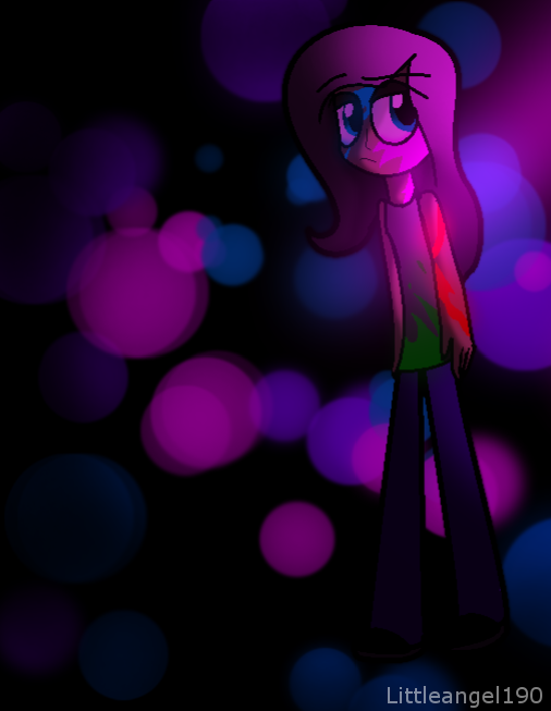Neon Fluttershy by littleangel190