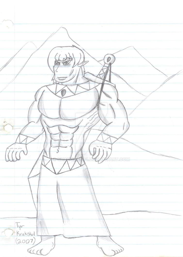 Heroes of Celadon- Tyr Krakskul by Shadowulf1