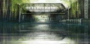 Bridge over ditch speedpaint by Ben-Andrews