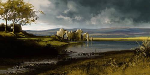 Remote castle ruins speedpaint by Ben-Andrews
