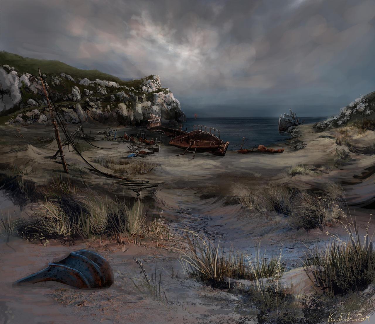 Dear Esther Shipwreck beach by Ben-Andrews