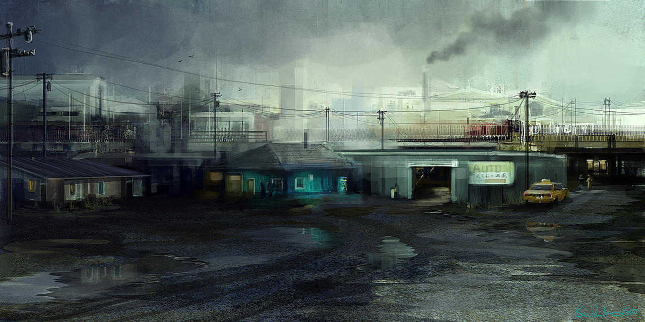 Garage speedpaint by Ben-Andrews