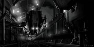 Freighter docking