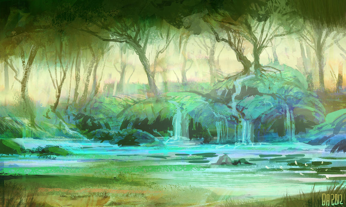 Forest pool by Ben-Andrews