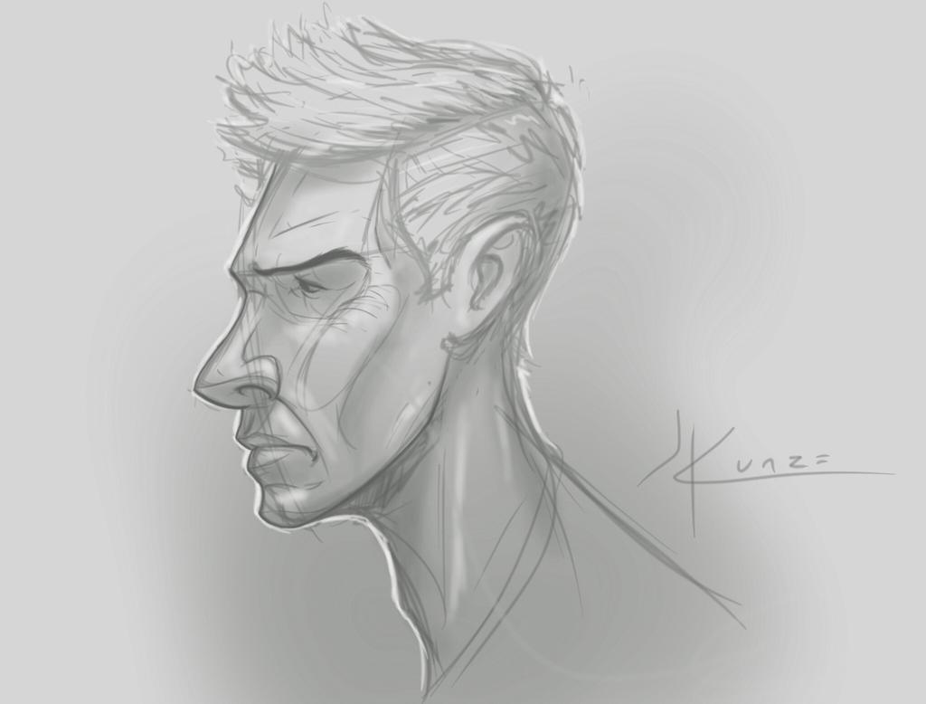 Quick Face Sketch By JeffKunze On DeviantArt