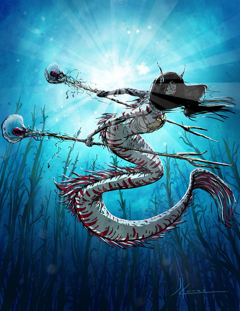 Mermaid Warrior by JeffKunze