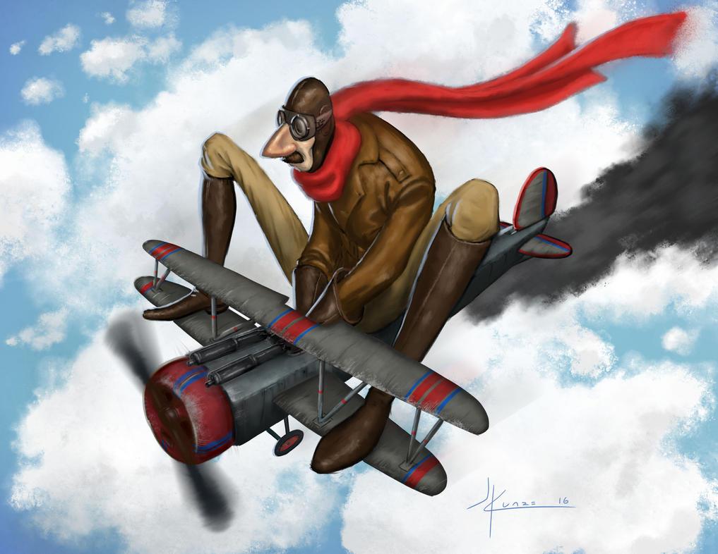 Aviator Character by JeffKunze