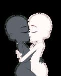 Equestria girls kissing base (girlxgirl) bymlpsun