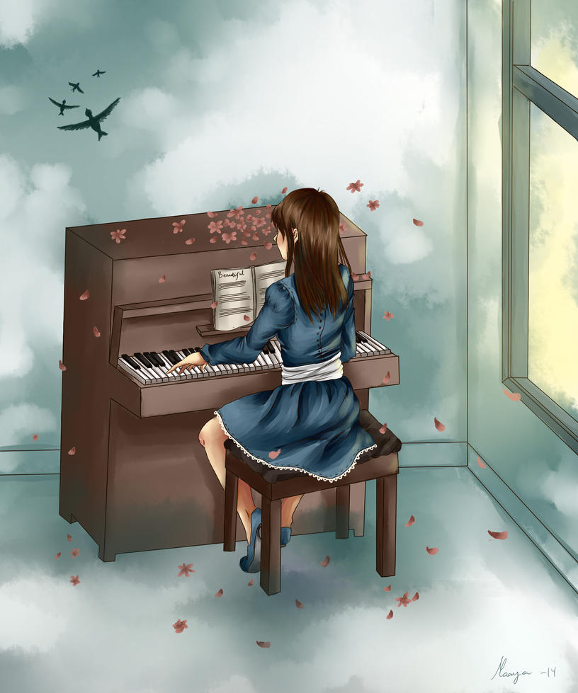 Piano by BirdChild