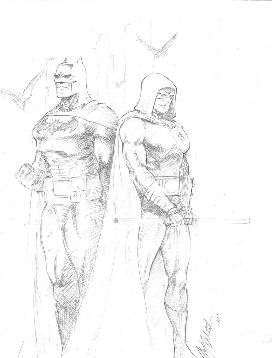 Batman and Robin by markpwhitaker