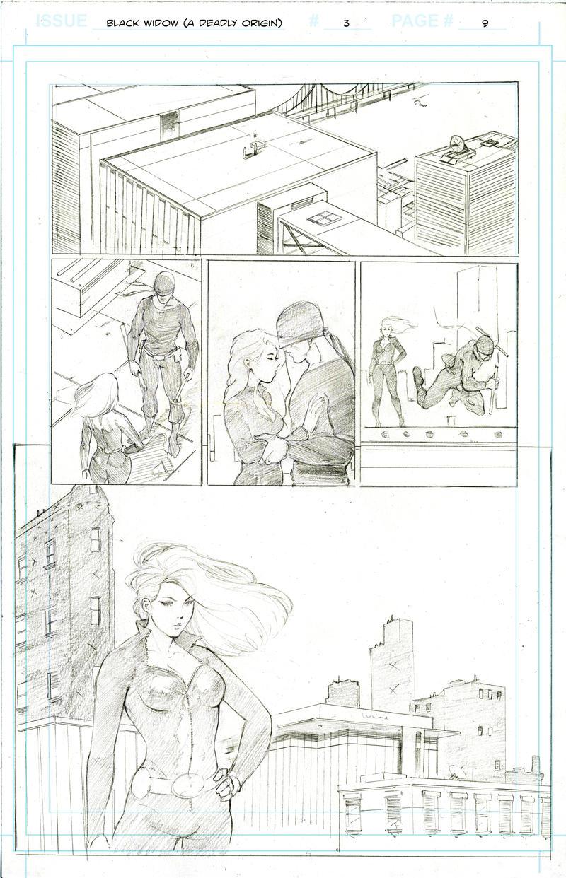 Black Widow Page 9 by markpwhitaker