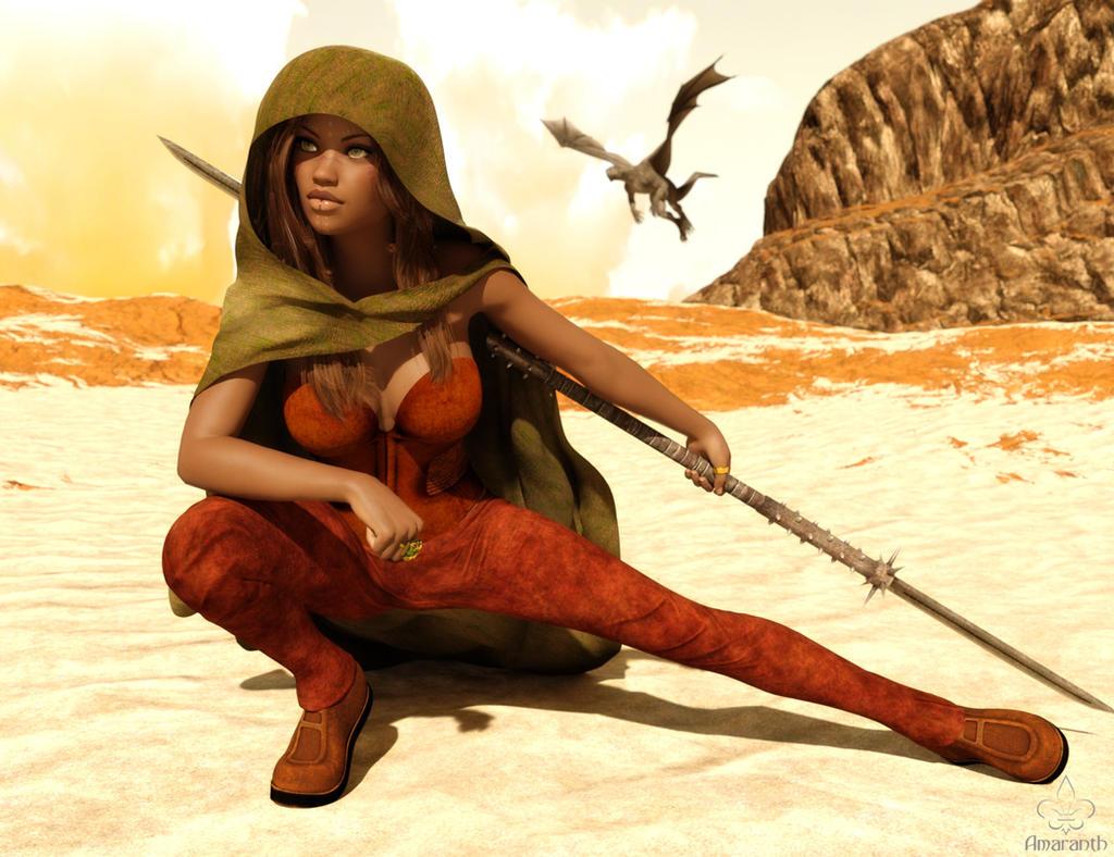 Dragongirl by art-by-Amaranth