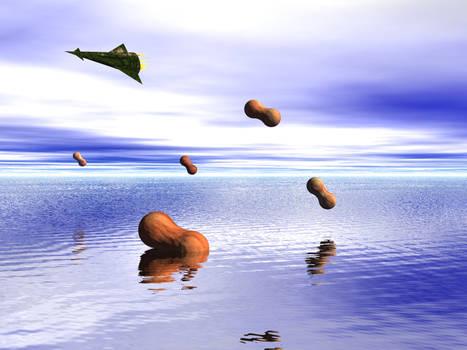 Floating Alien Peanuts