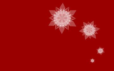 Snowflake Wallpaper Red
