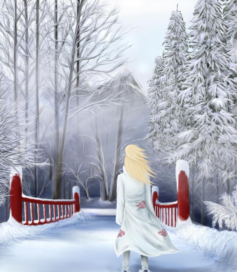 First Snow Deidara by SasukeRoxMySox2