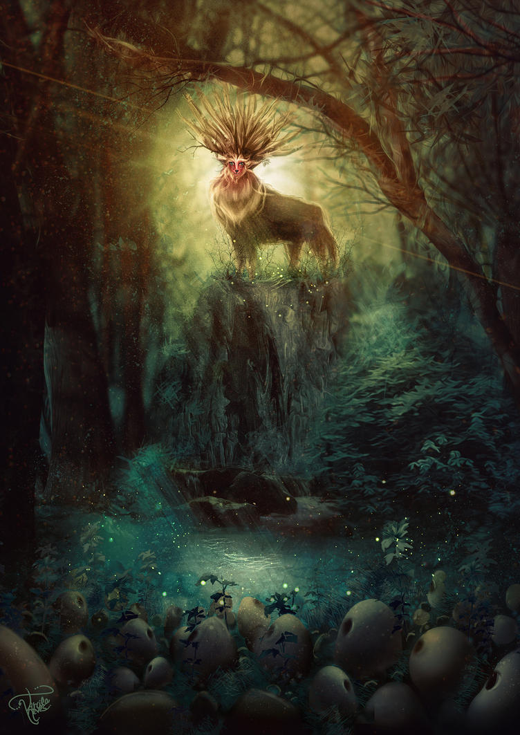 Spirit of forest - Princess Mononoke by killergreenwp