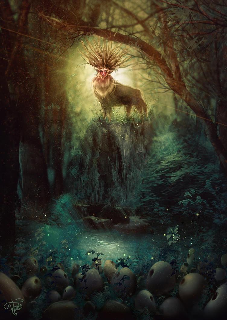 Spirit of forest - Princess Mononoke by killergreenwp