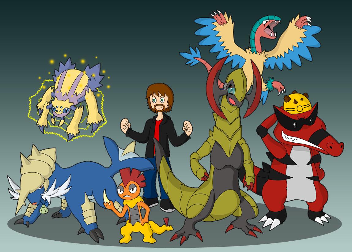 Pokemon Black Elite Four Team By 0parkp On Deviantart