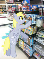 Derpy Grocery Shopping by LudiculousPegasus