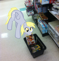 Derpy Sneaking Muffins by LudiculousPegasus