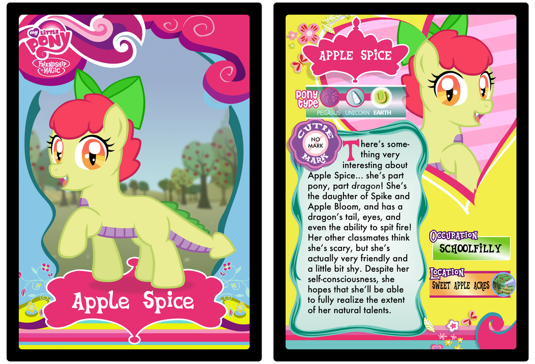Apple Spice Trading Card by LudiculousPegasus