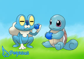 Contest: Squirtle and Froakie by LudiculousPegasus