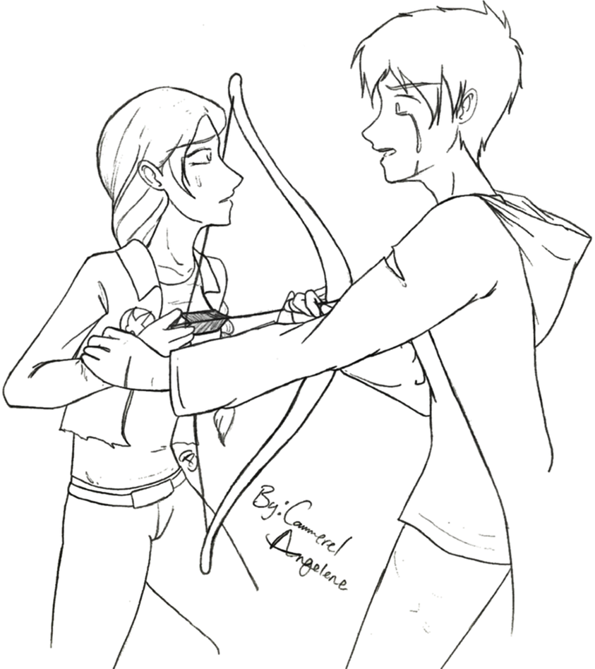 Hunger games coloring pages online - Hunger Games Katniss Coloring Coloring Pages