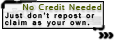 Use Policy Tag: No Credit Needed 1 by Cammerel