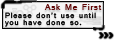 Use Policy Tag: Ask Me First 1 by MageStiles