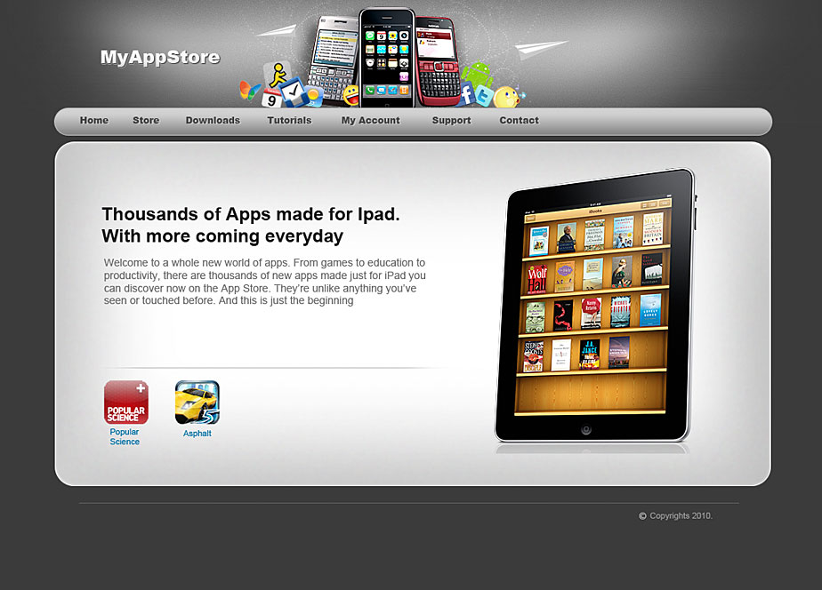 Apps Store Theme by mediarays
