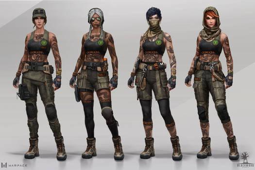 GORGONA characters set, Warface