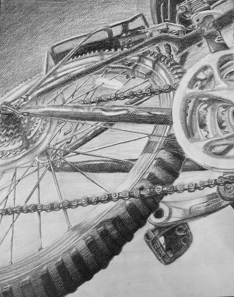 RISD bike drawing by Kilimac