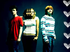 Harry Potter Trio Wallpaper by Kilimac