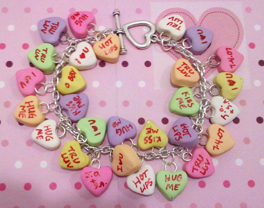 Heart Candy Valentines Charm Bracelet By NerdyMind ...