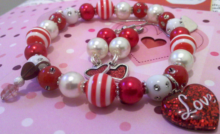 Valentine Beaded Jewelry Set by NerdyMind on DeviantArt