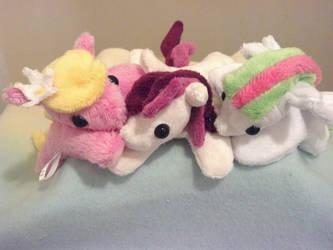 Pocket Ponies - Flowergirls by NerdyMind