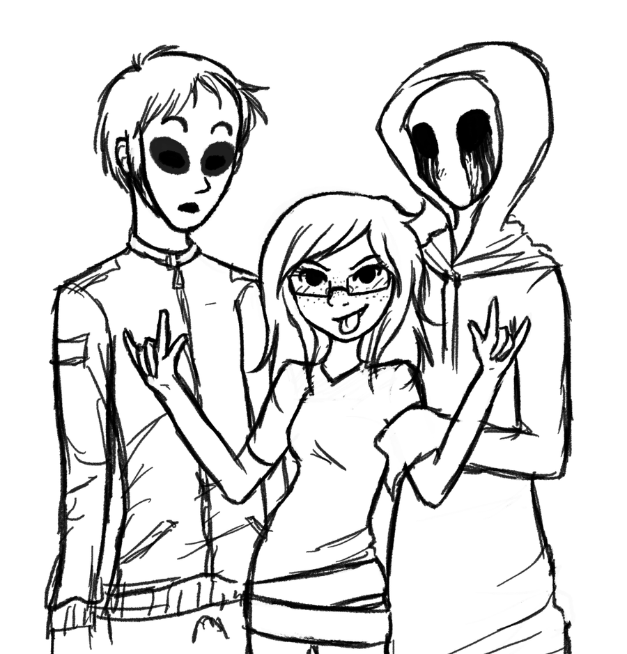 This is a graphic of Obsessed Creepypasta Coloring Pages