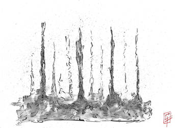 Trees ambient ink by galex89