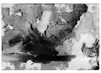 Postcard 10x15, marble dust, ink sumi on paper. by galex89