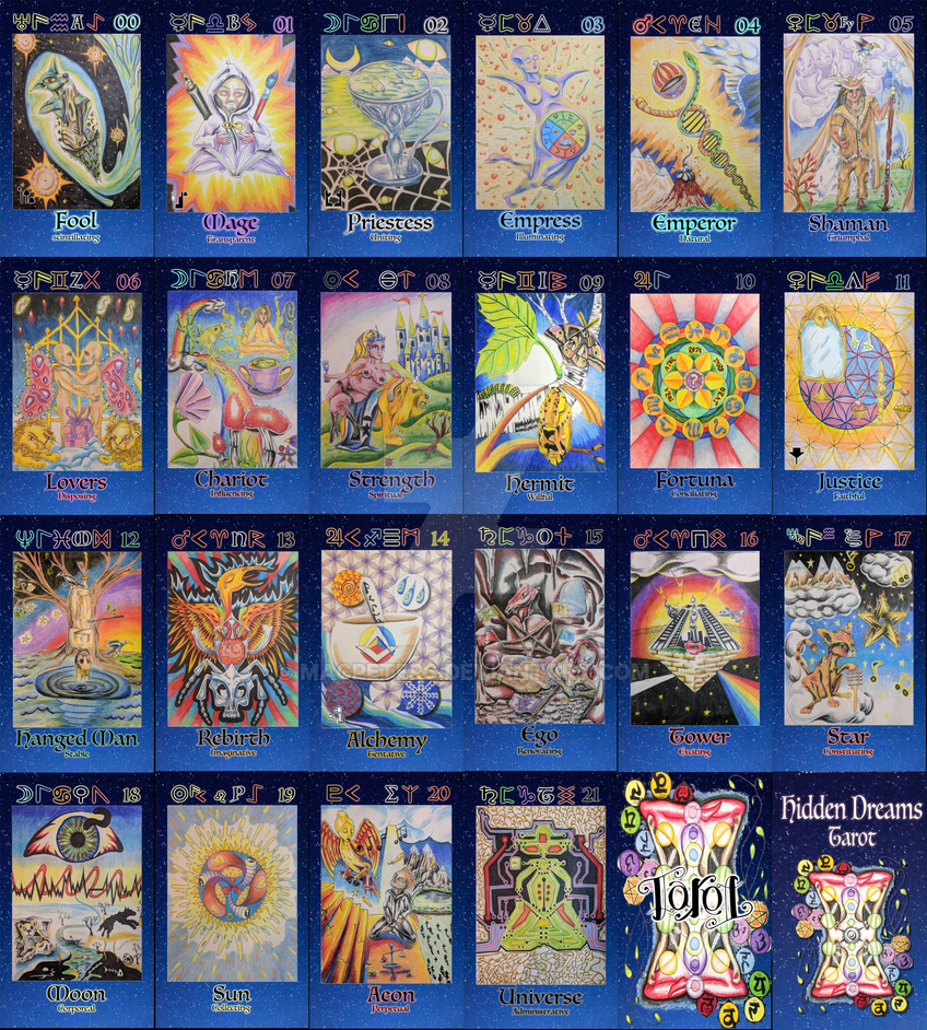 Hidden Dreams Tarot - the Major Arcana complete by Macpeters
